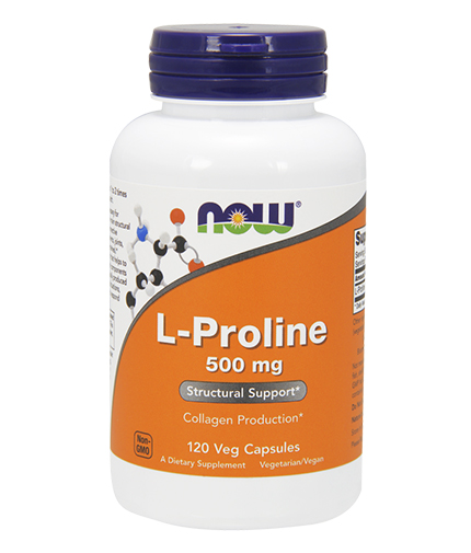 NOW L-Proline 500mg. / 120 VCaps.