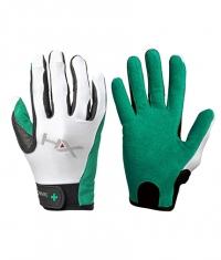 HARBINGER HUMANX Women's X3 Competition Full Finger Gloves GREEN / WHITE