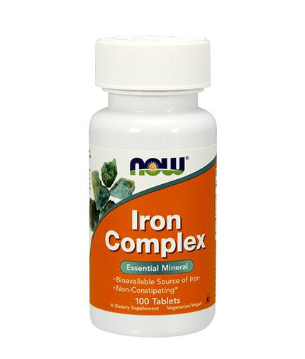 NOW Iron Complex 100 Tabs.