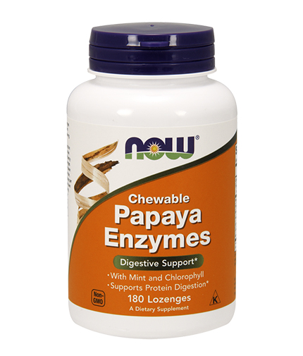 NOW Papaya Enzymes 180 Loz.
