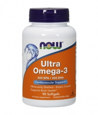 NOW Omega 3 / Odor Controlled - Enteric Coated / 1000mg. / 90 Softgels