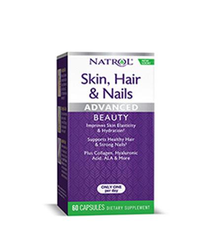 NATROL Skin Hair Nails & Collagen / 60 Caps.