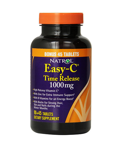 NATROL Easy C 1000mg Time Release / 90+45 FREE Tabs.