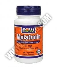 NOW Melatonin 3mg. / 60 Caps.