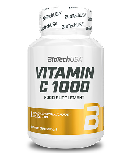BIOTECH USA Vitamin C 1000mg. Bioflavonoids / 30 Tabs.
