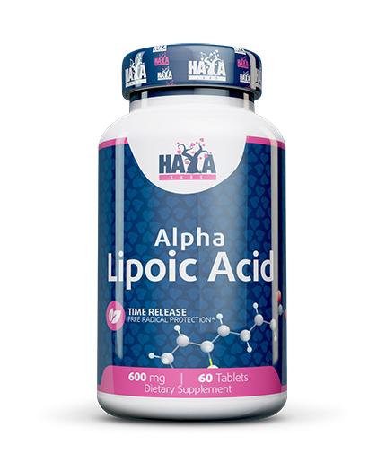 HAYA LABS Time Release Alpha Lipoic Acid 600mg. / 60 tabs.