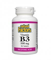 NATURAL FACTORS Vitamin B3 500 mg / 90 tabs