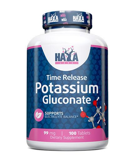 HAYA LABS Potassium Gluconate 99mg. / 100 Tabs.