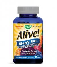 NATURES WAY Alive Men's 50+ Gummy Vitamins 150mg. / 75 Gummies
