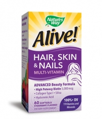 NATURES WAY Alive Hair, Skin & Nails 1040mg. / 60 Soft.