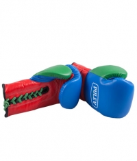 PULEV SPORT Blue-Red-Green Boxing Gloves