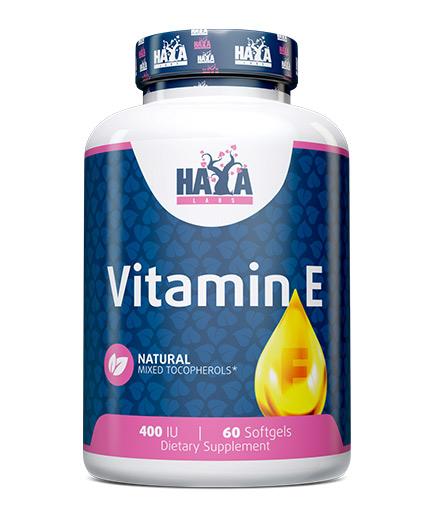 HAYA LABS Vitamin E Mixed Tocopherols 400 IU / 60 Soft.