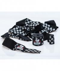 PULEV SPORT Hand Wraps / Black with Skulls