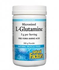 NATURAL FACTORS Micronized L-Glutamine / 60 Serv.
