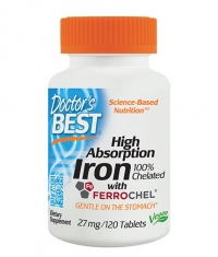 DOCTOR'S BEST High Absorption Iron 27mg. / 120 Tabs.