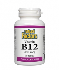 NATURAL FACTORS Vitamin B12 (Cyanocobalamin) 250mcg. / 90 Tabs.