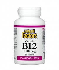 NATURAL FACTORS Vitamin B12 (Cyanocobalamin) 1000mcg. / 60 Tabs.