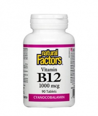 NATURAL FACTORS Vitamin B12 (Cyanocobalamin) 1000mcg. / 90 Tabs.