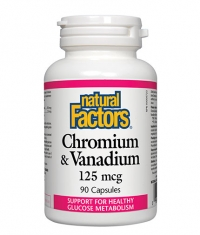 NATURAL FACTORS Chromium & Vanadium 125mcg. / 90 Caps.