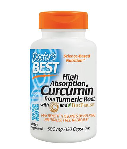 DOCTOR'S BEST High Absorption Curcumin 500mg. / 120 Caps.