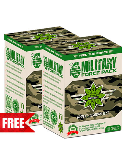 PROMO STACK CVETITA Military Force Pack 100 Caps. 1+1 FREE