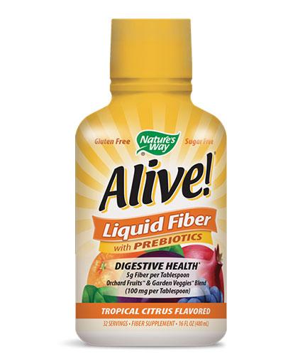 NATURES WAY Alive Liquid Fiber with Prebiotics / 480ml.
