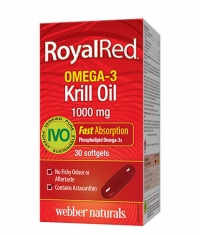 WEBBER NATURALS Royal Red Omega-3 Krill Oil 1000mg. / 30 Soft.