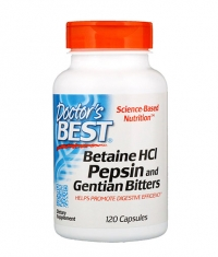 DOCTOR'S BEST Betaine HCL Pepsin and Gentian Bitters / 120 Caps.