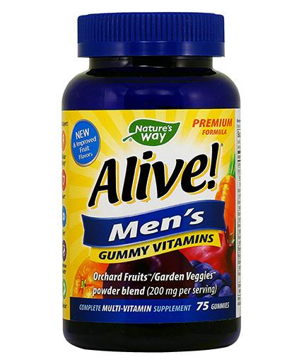 NATURES WAY Alive Men's Gummy Vitamins 150mg. / 75 Gummies