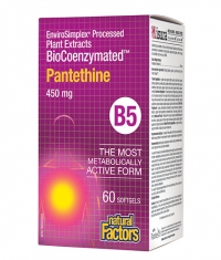 NATURAL FACTORS BioCoenzymated Pantethine B5 450 mg / 60 Soft.