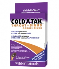 WEBBER NATURALS Cold-A-Tak® Throat + Sinus Echinilin® / 30softgels.