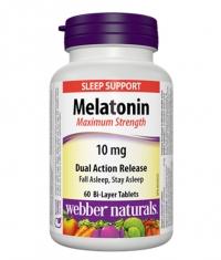 WEBBER NATURALS Melatonin Maximum Strength 10mg / 60Tabs.