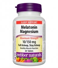 WEBBER NATURALS Melatonin Magnesium 10/150mg / 60Tabs.
