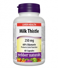 WEBBER NATURALS Milk Thistle 250mg / 60Caps.