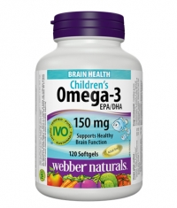WEBBER NATURALS Children's Omega-3 150mg / 120Softgels.