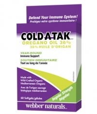 WEBBER NATURALS Cold-A-Tak® Oregano Oil 36% / 60Softgels.