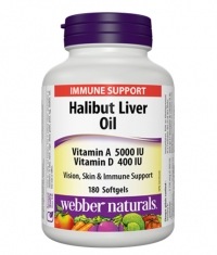 WEBBER NATURALS Halibut Liver Oil / 180Softgels,