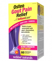 WEBBER NATURALS Osteo Gout Pain Relief with InflamEase / 60Vcaps.
