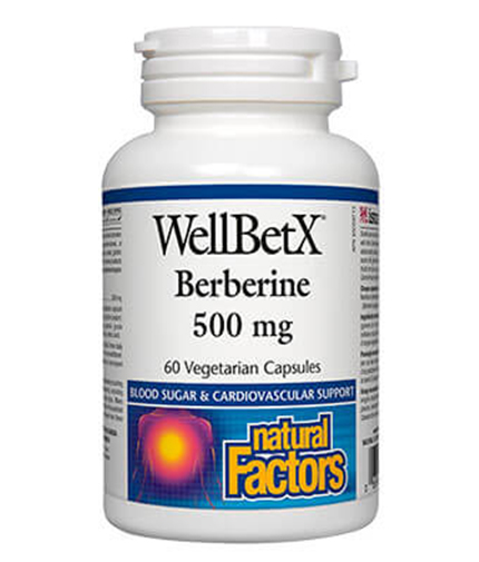 NATURAL FACTORS Berberine 500mg. / 60 Caps.