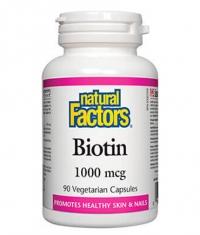 NATURAL FACTORS Biotin 1000mcg. / 90 Vcaps.