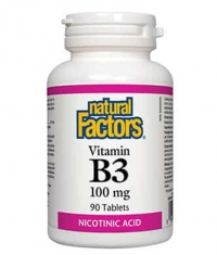 NATURAL FACTORS Vitamin B3 100mg. / 90 Caps.