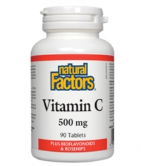 NATURAL FACTORS Vitamin C 500mg. / 90 Tabs.