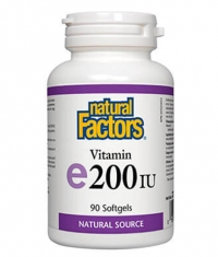 NATURAL FACTORS Vitamin E 100mg. 200iu / 90 Soft.