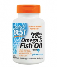 DOCTOR'S BEST Purified & Clear Omega 3 Fish Oil 1000mg. / 120 Soft.