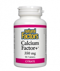 NATURAL FACTORS Calcium Factor+ 350mg. / 90 Tabs.