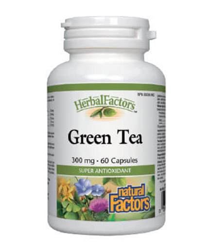NATURAL FACTORS Green Tea 300mg. / 60 Caps.