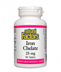 NATURAL FACTORS Iron Chelate 25mg. / 90 Tabs.
