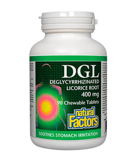 NATURAL FACTORS DGL 400 mg / 90 chew.