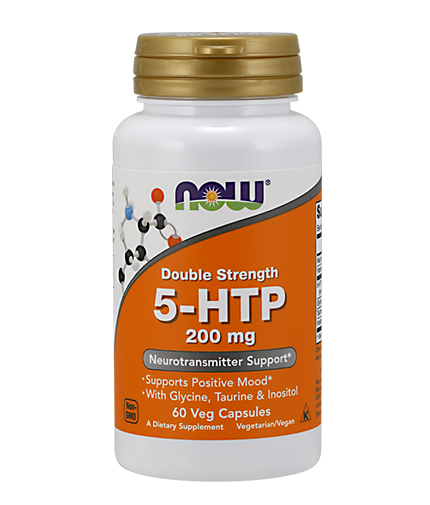 NOW 5-HTP 200mg / 60Vcaps.