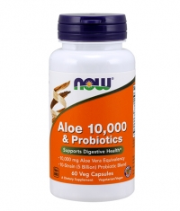 NOW Aloe Vera 10,000mg & Probiotics / 60Vcaps.